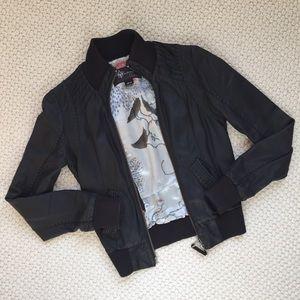 Mackage for Aritzia black leather jacket. Size XS